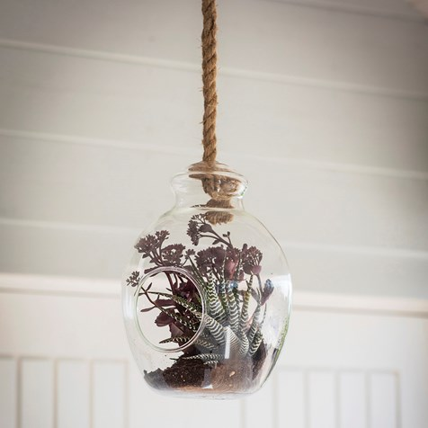 Garden Trading Hanging Glass Terrarium With Rope The Dancing Hare